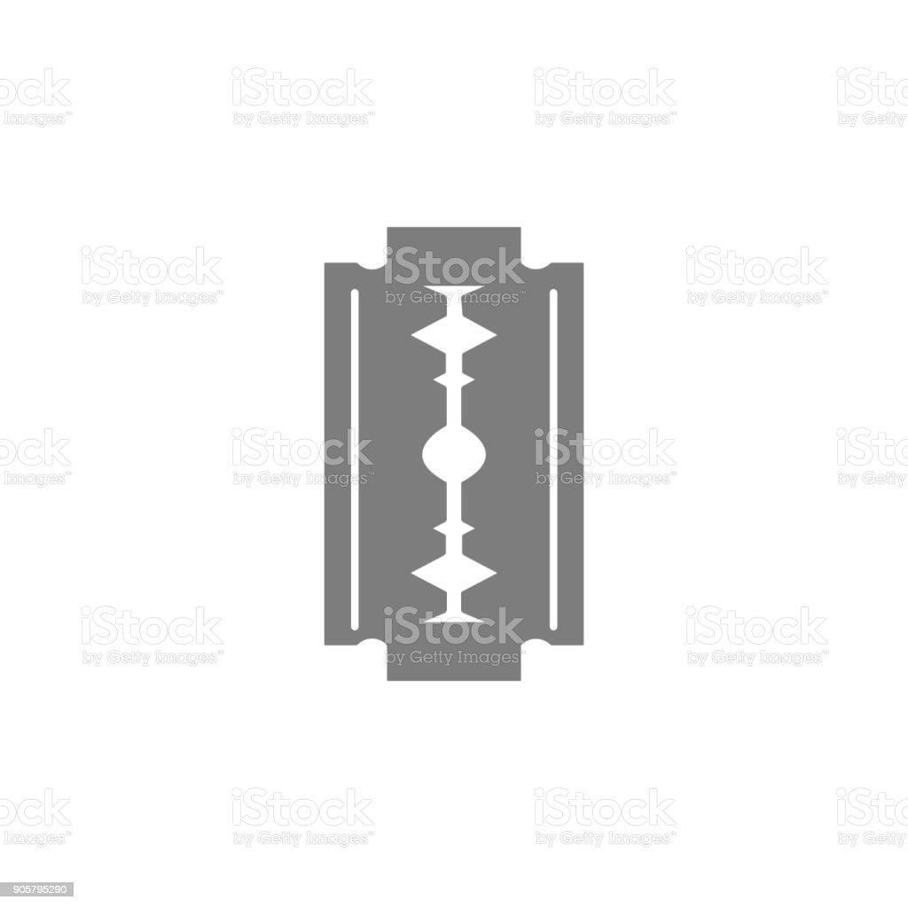 Safety razor blade icon vector art illustration
