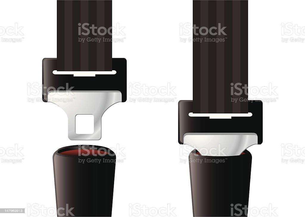 Safety seat belt vector art illustration