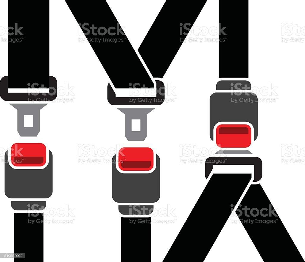 Safety seatbelt vector art illustration