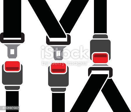 Safety Seatbelt Stock Vector Art Amp More Images Of Air