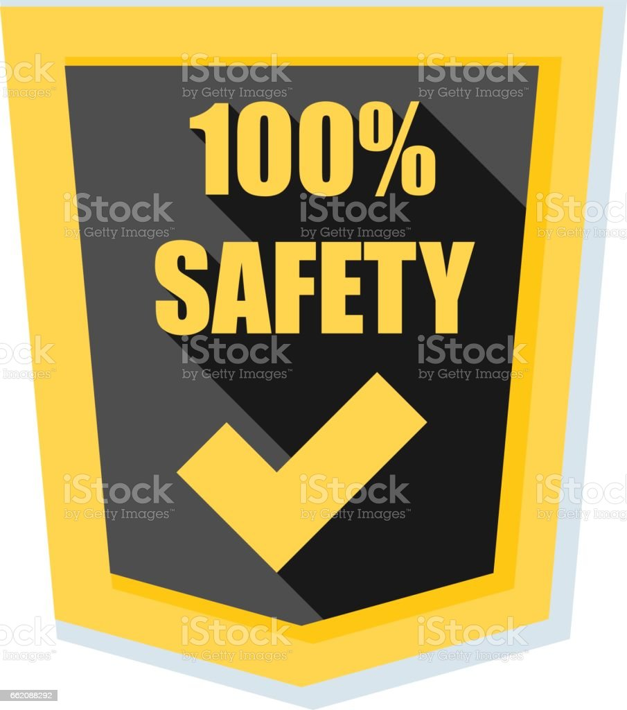 100% Safety shield illustration royalty-free 100 safety shield illustration stock vector art & more images of accessibility