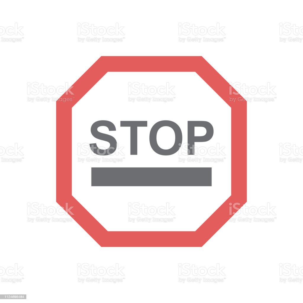 Safety Stop Icon On White Background For Graphic And Web