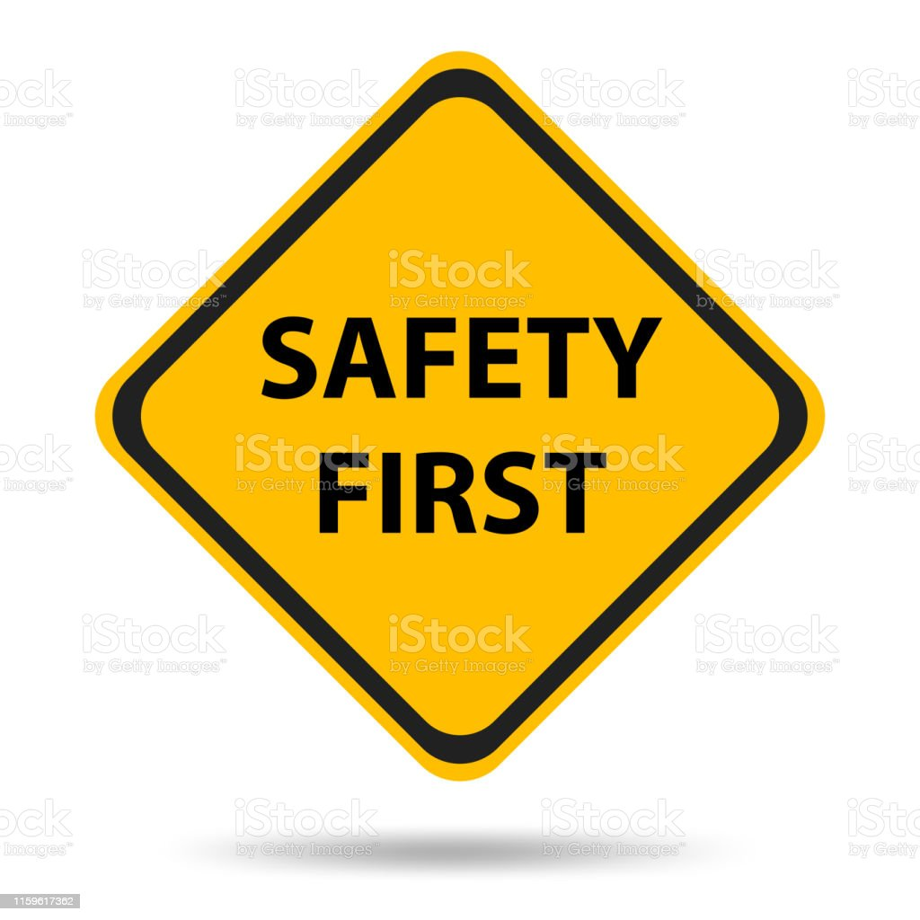 Safety symbols and signs first - Royalty-free Acidente - Evento Relacionado com o Transporte arte vetorial