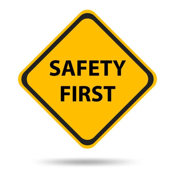 sicherheitssymbole und schilder zuerst - anfang stock-grafiken, -clipart, -cartoons und -symbole