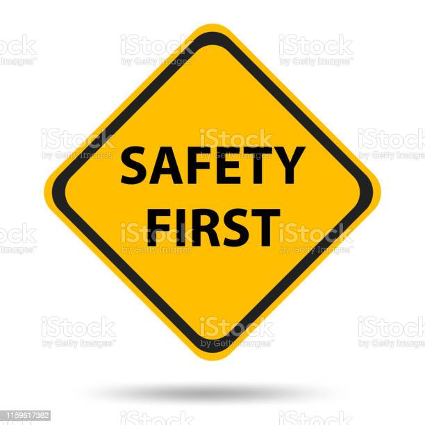 Safety Symbols And Signs First - Arte vetorial de stock e mais imagens de Acidente - Evento Relacionado com o Transporte