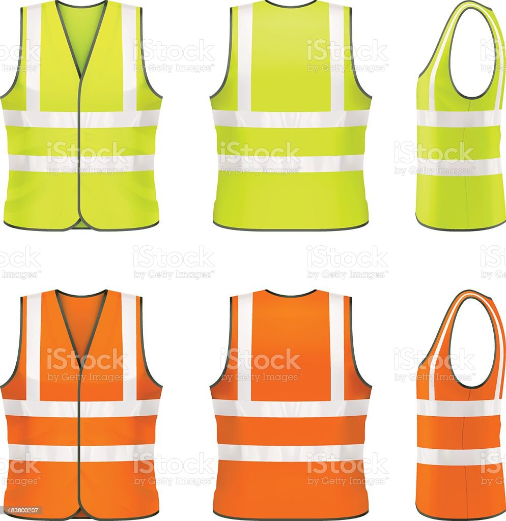 Safety vest vector art illustration