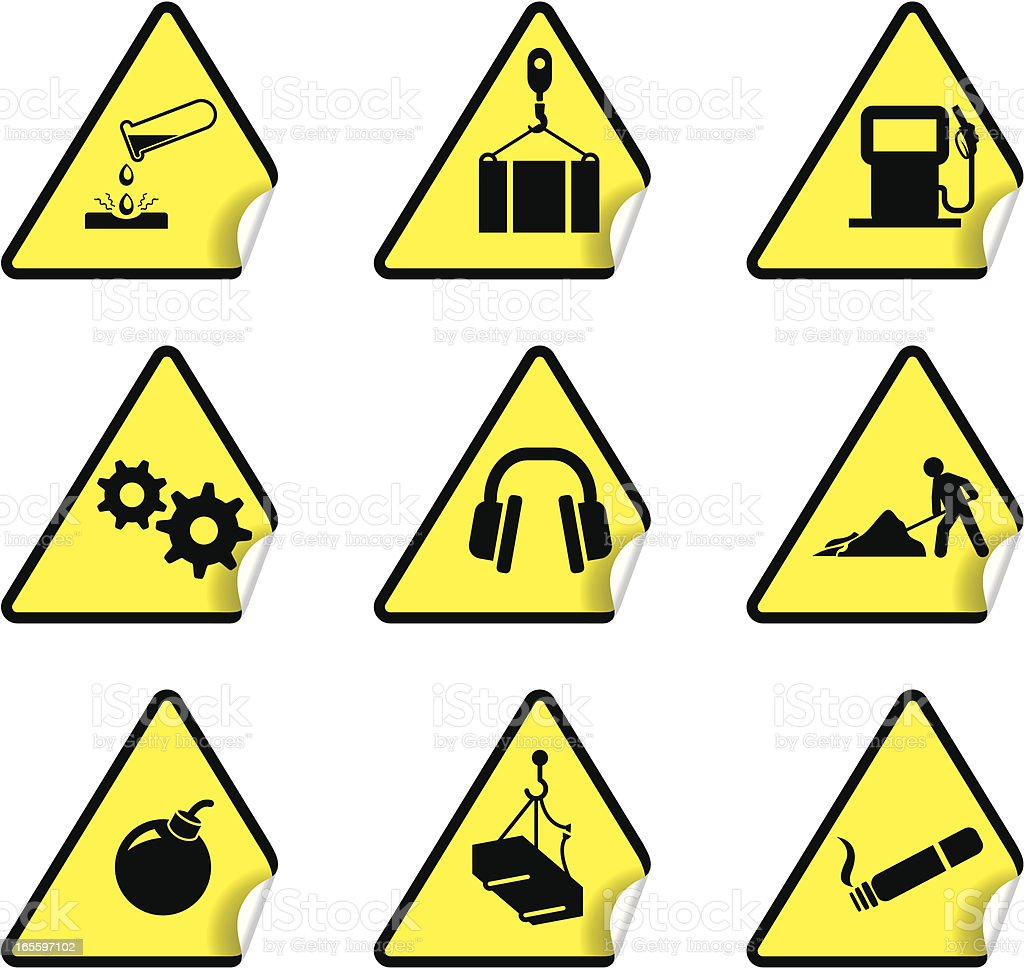 Safety Warning Sticker Set 7 royalty-free safety warning sticker set 7 stock vector art & more images of bomb