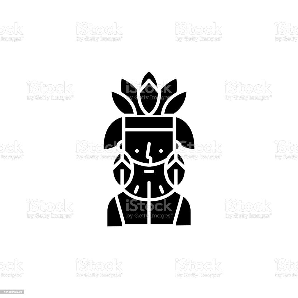 Sagamore black icon concept. Sagamore flat  vector symbol, sign, illustration. royalty-free sagamore black icon concept sagamore flat vector symbol sign illustration stock vector art & more images of architecture