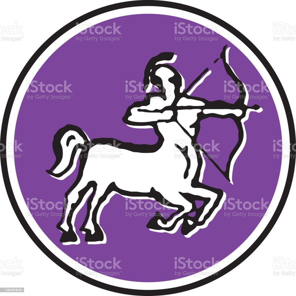 sagittarius - 8/12 vector art illustration