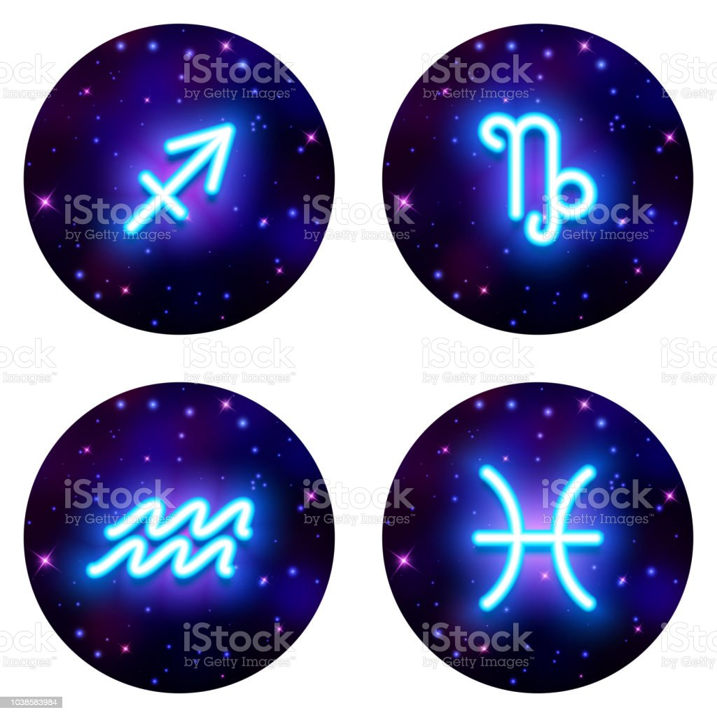 Sagittarius Capricorn Aquarius Pisces Zodiac Sign Horoscope Symbol