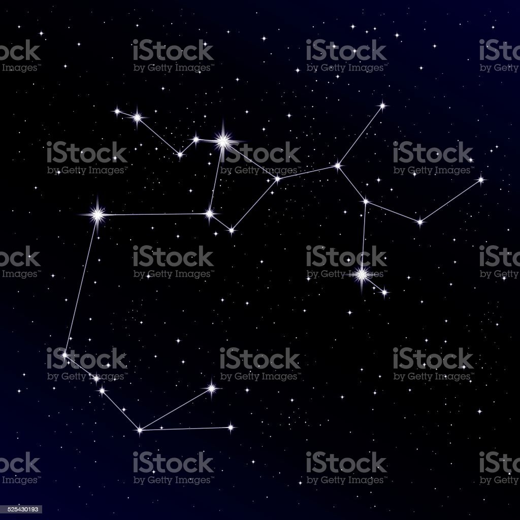 Sagittarius constellation vector art illustration