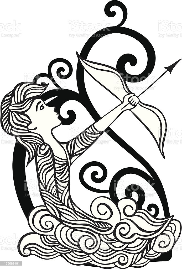 Sagittarius royalty-free stock vector art