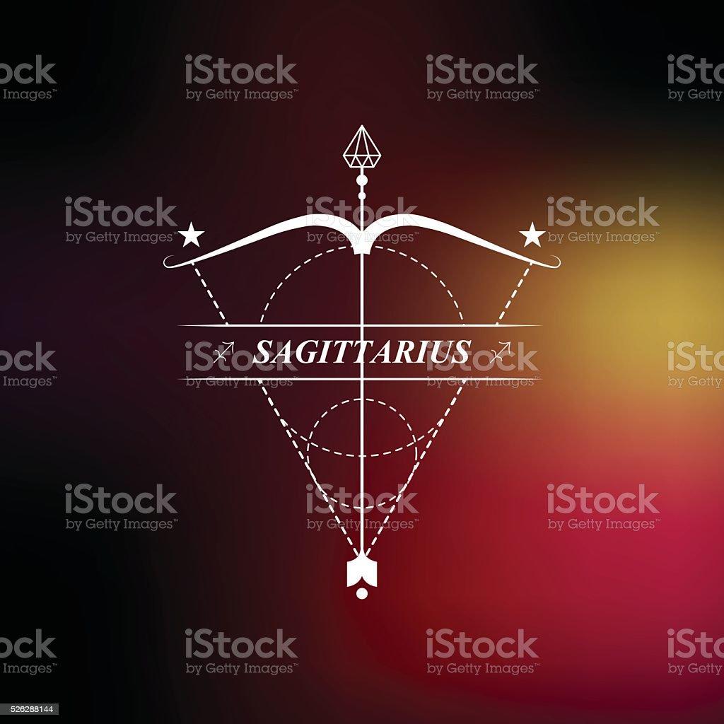 Sagittaire Signe Du Zodiaque Horoscope Tatouage Badge Vintage