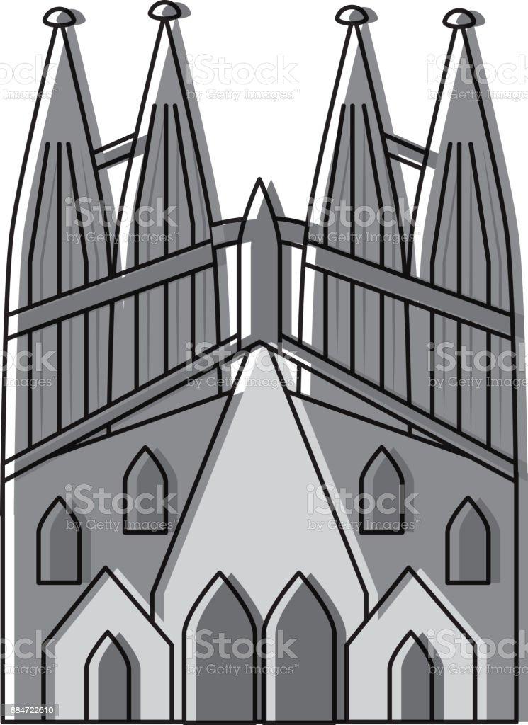 サグラダファミリア ガウディ スペイン バルセロナの寺院聖堂 イラストレーションのベクターアート素材や画像を多数ご用意 Istock