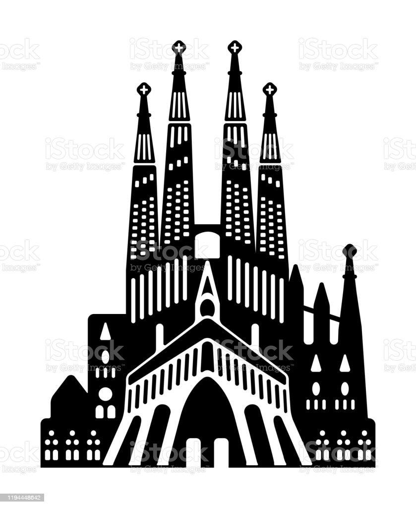 サグラダファミリア スペイン世界的に有名な建物モノクロベクトルイラスト アントニ ガウディのベクターアート素材や画像を多数ご用意 Istock
