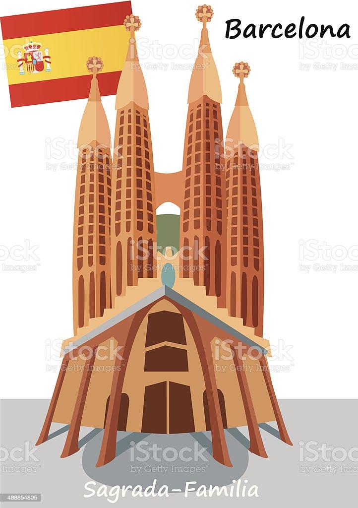 Sagrada Familia vector art illustration