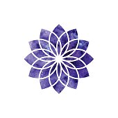 Sahasrara chakra. Sacred Geometry. One of the energy centers in the human body.