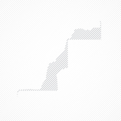 Sahrawi Arab Democratic Republic map designed with lines on white background