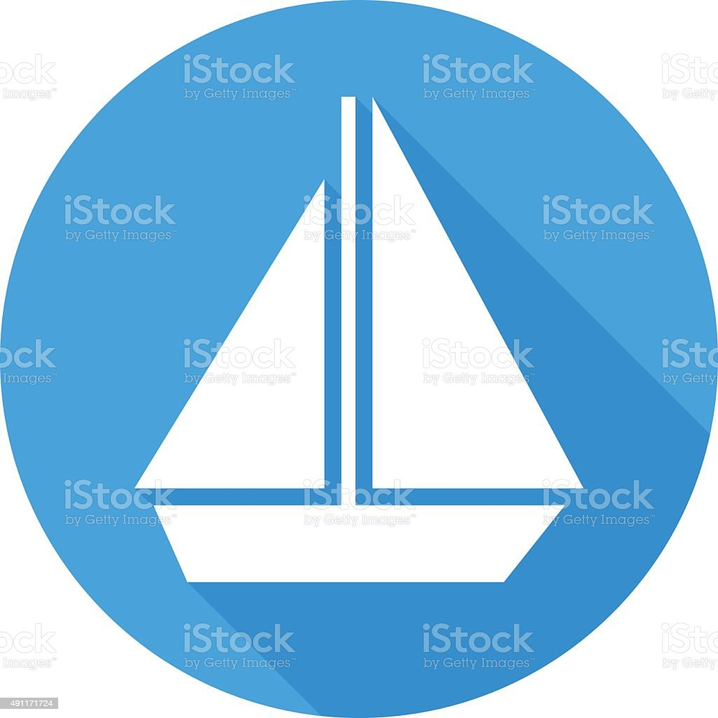 sail boat icon modern minimal flat design style vector