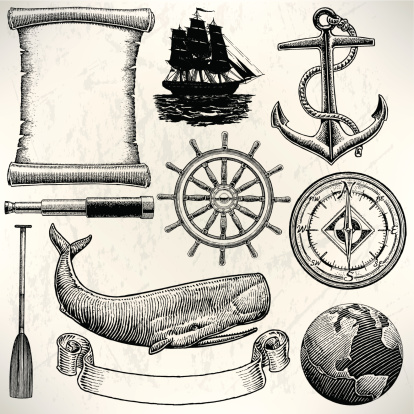 Old World Sailing Discovery Nautical Equipment. Pen and ink style illustration of Old World Sailing Discovery Nautical Equipment. Check out my