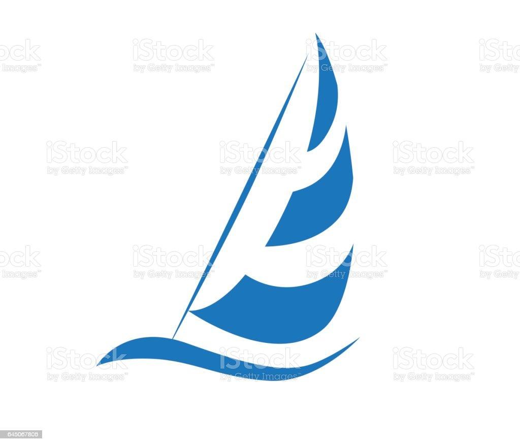 帆のアイコン デザイン ベクターアートイラスト