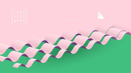 sail to horizon background