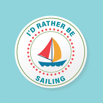 Sailboat Beach Banners Stickers