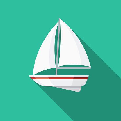 Sailboat Design Greece Icon