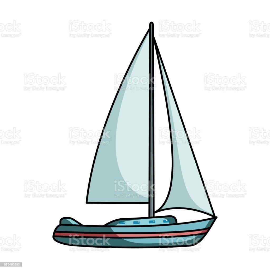Ilustración de Velero Para Navegar Barco Para Competir En Vela Agua ...