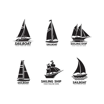 sailboat silhouette design