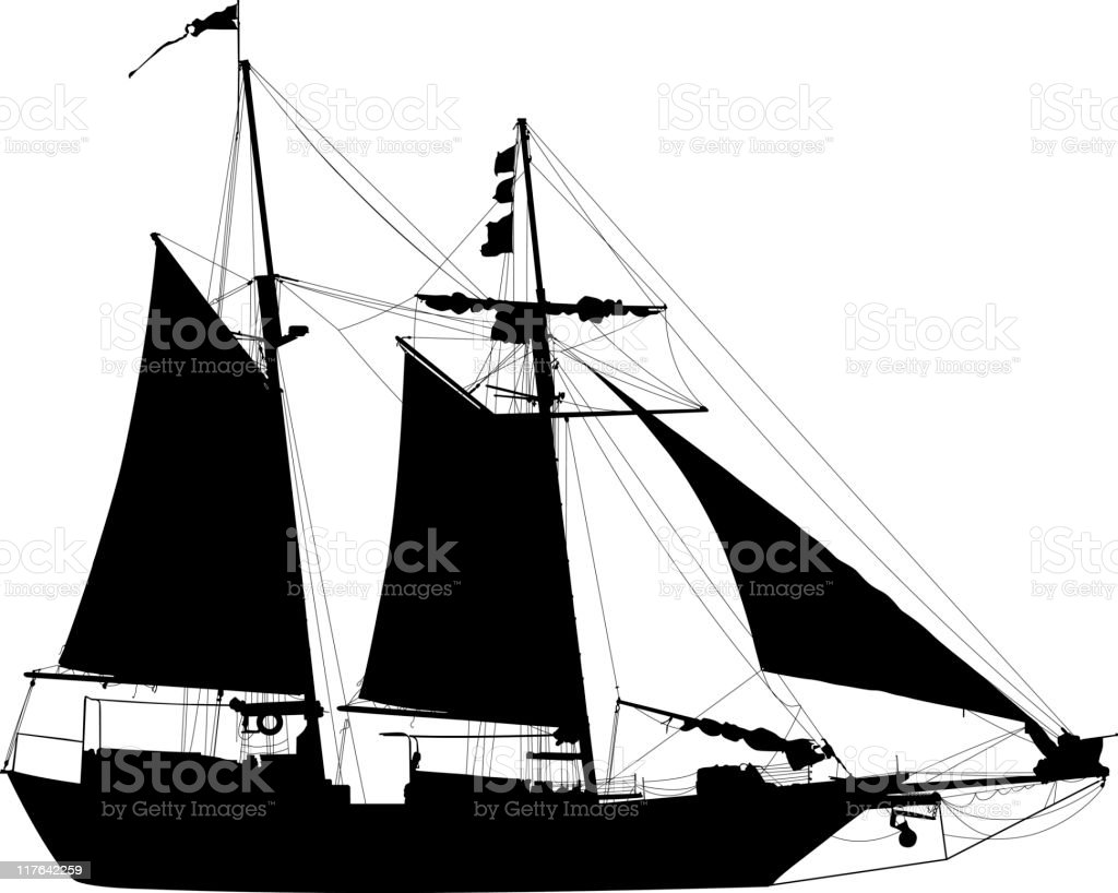 sailboat silhouette stock vector art & more images of back lit