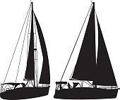 Sailboat Silhouettes