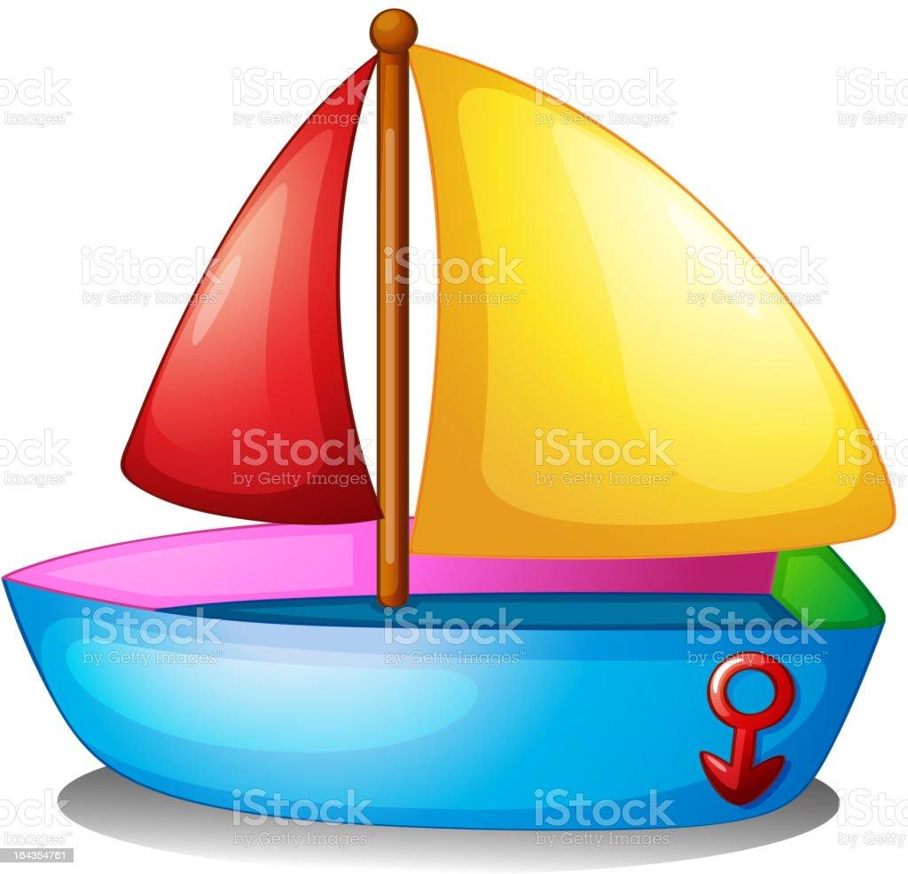 Sailboat royalty-free stock vector art