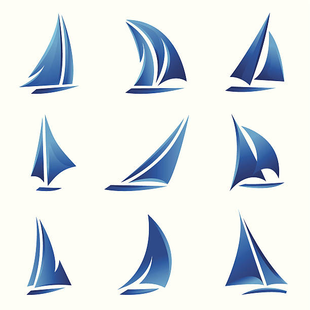 Sailboat vector art illustration
