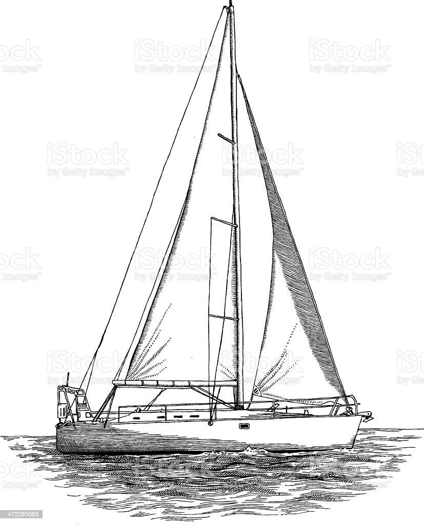 Segelschiff bleistiftzeichnung  Segelschiff Stock Vektor Art und mehr Bilder von Bleistiftzeichnung ...