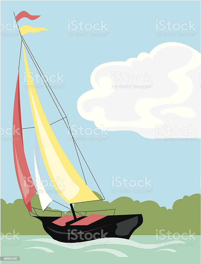 Sailboat royalty-free sailboat stock vector art & more images of blue