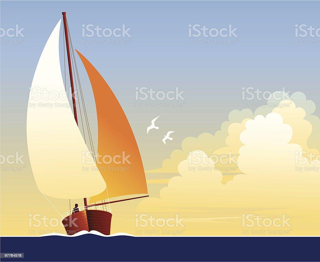 帆船 ベクターアートイラスト