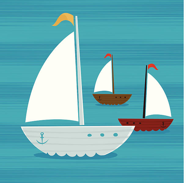 Sailboats vector art illustration