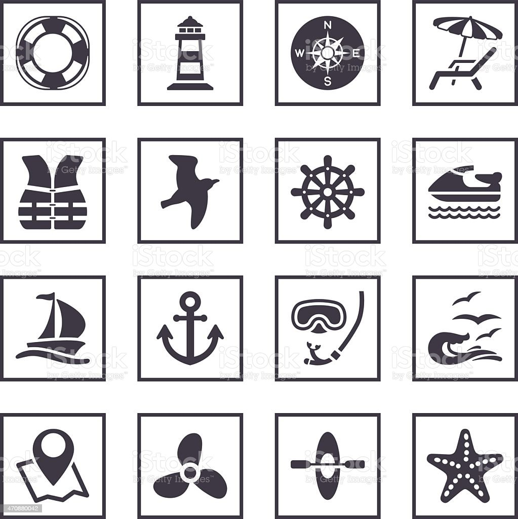 sailing and sea symbols stock vector art more images of 2015