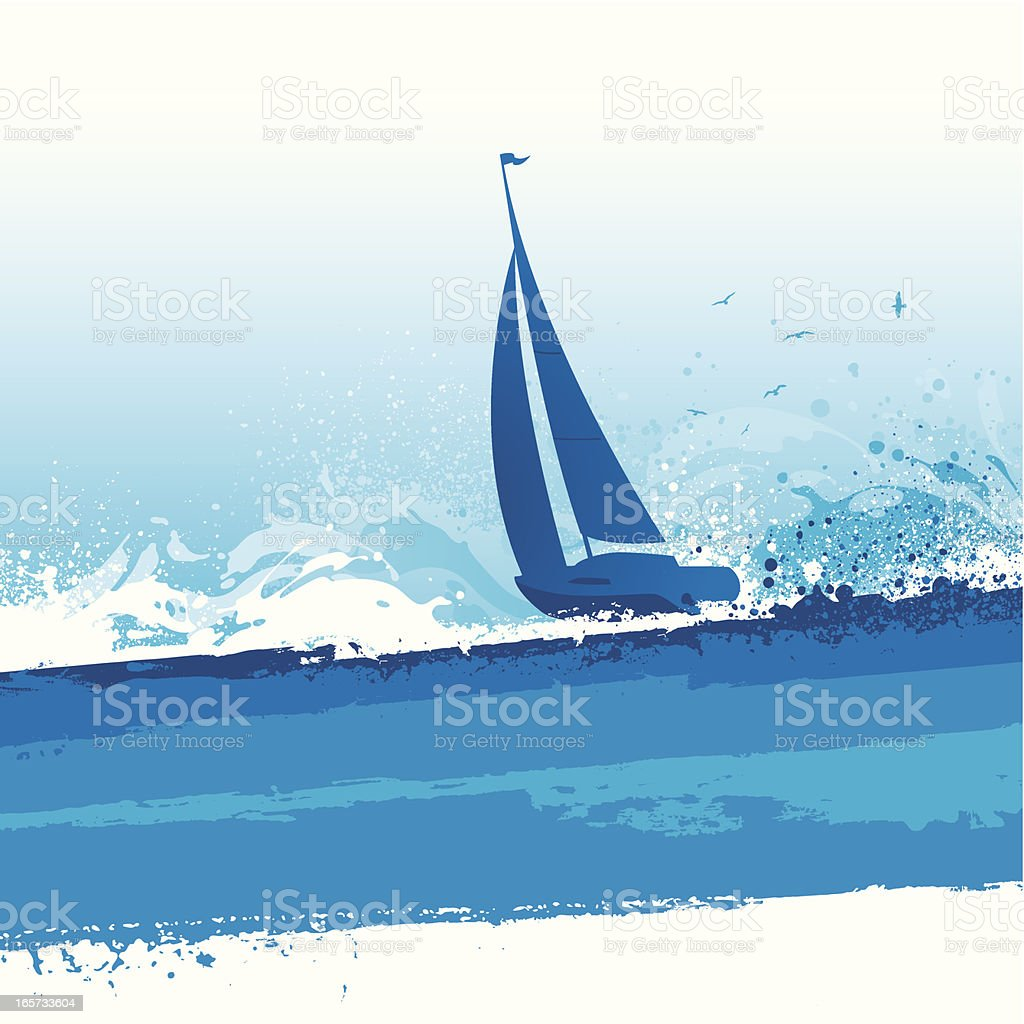 Sailing background royalty-free stock vector art