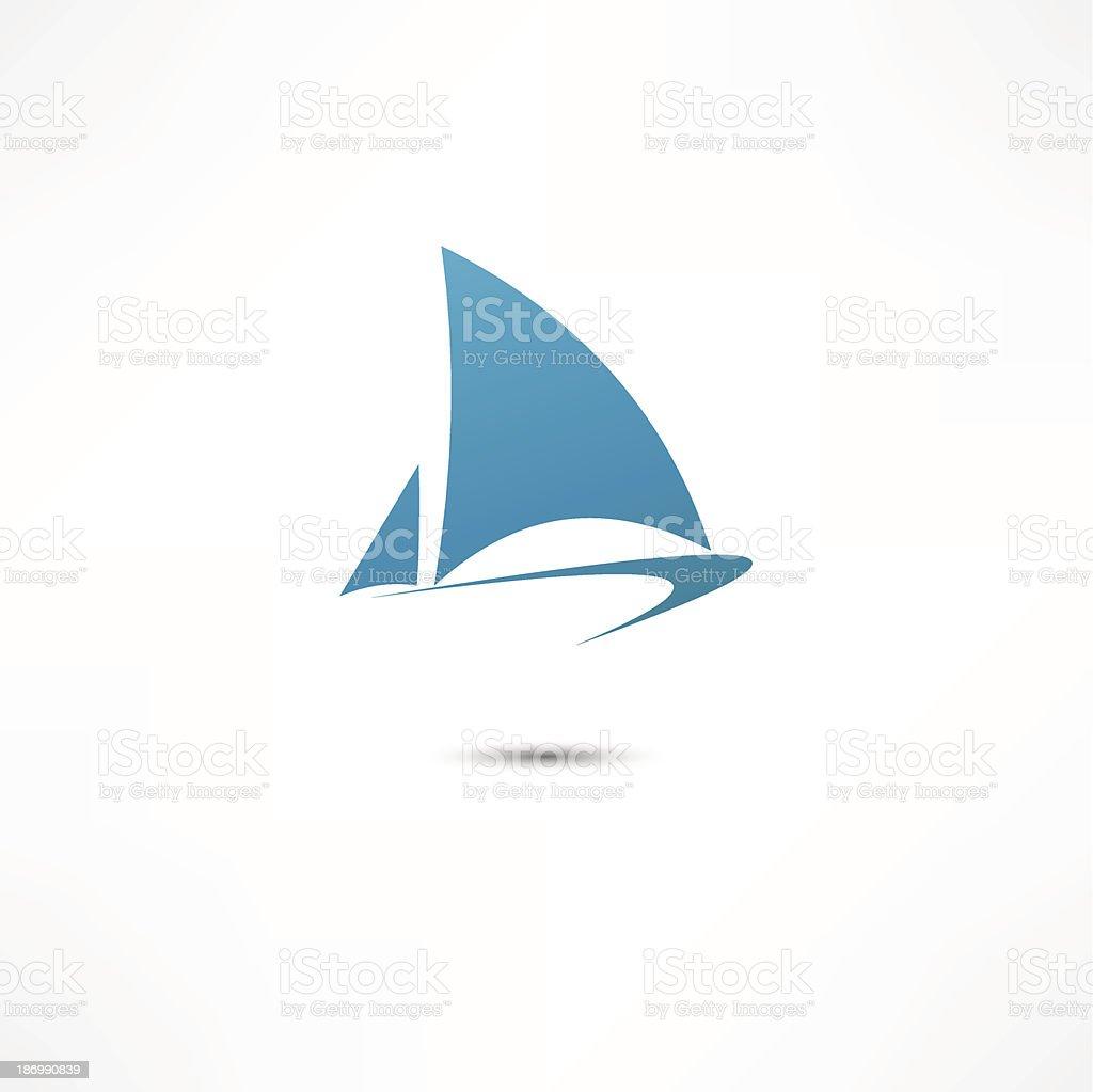Sailing boat vector art illustration