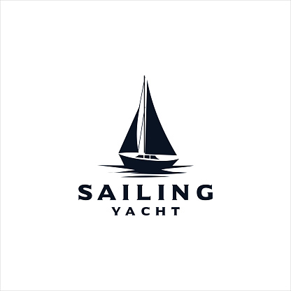 Sailing Design Template Vector. Yacht design inspiration Silhouette Hipster Retro