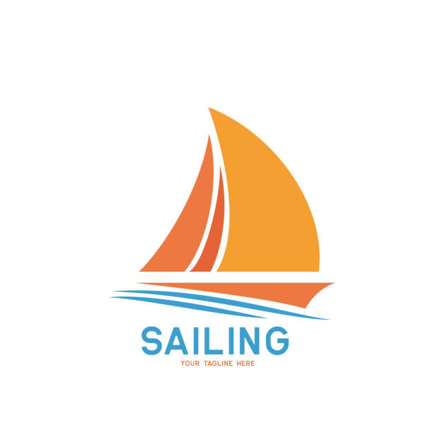 sailing icon on white background, vector illustration sailing icon on white background, vector illustration sail stock illustrations