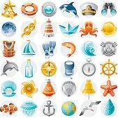 Fine colorful icon set.