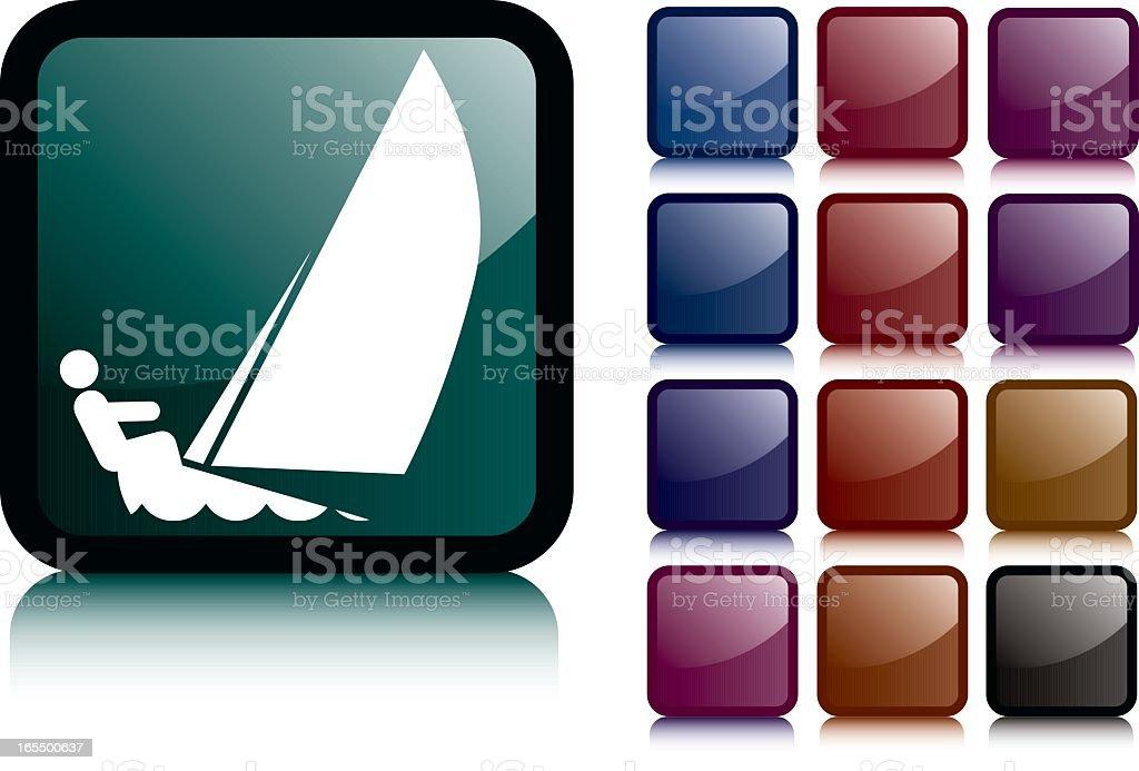 Sailing icon royalty-free stock vector art