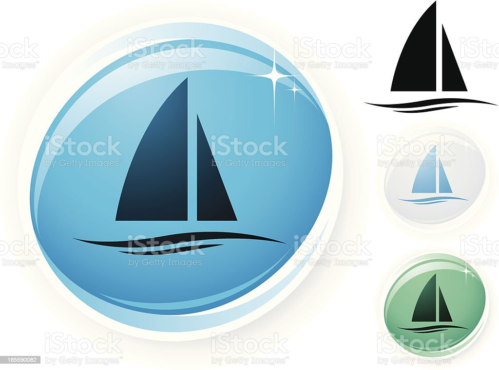 Sailing icon royalty-free stock vector art