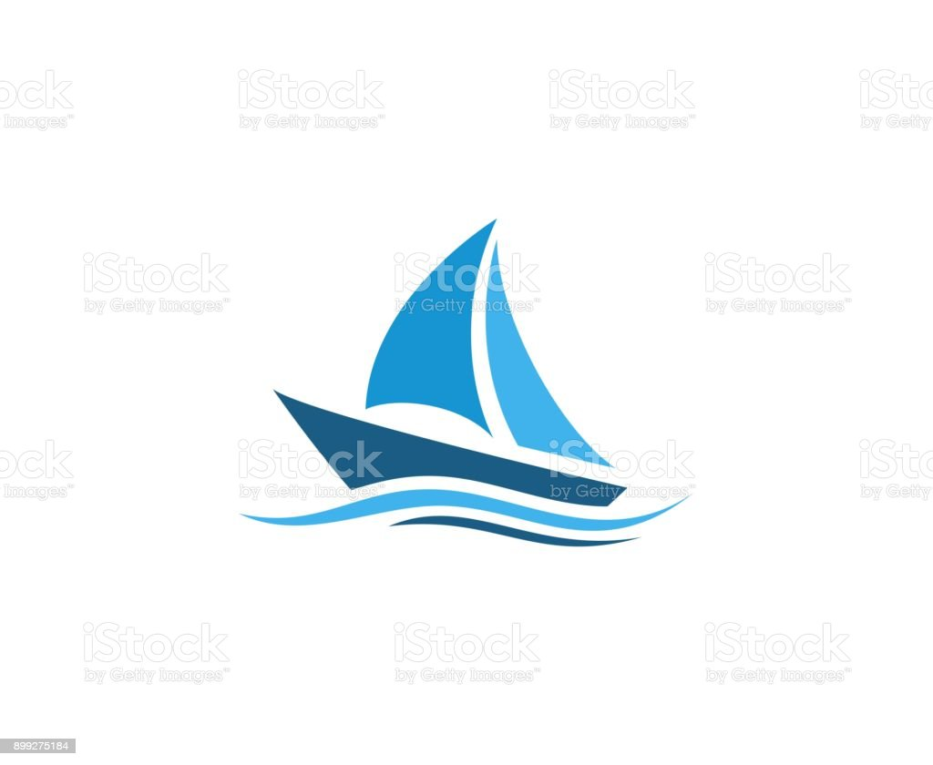 Sailing icon vector art illustration