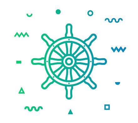 Sailing Line Style Icon Design
