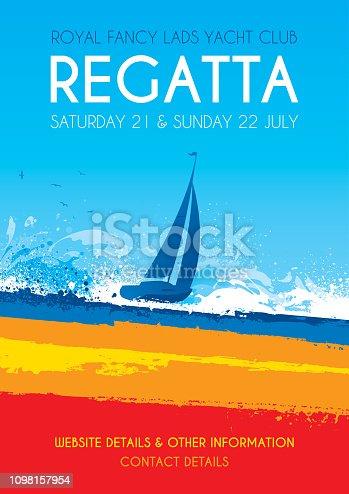 Poster for a sailing regatta