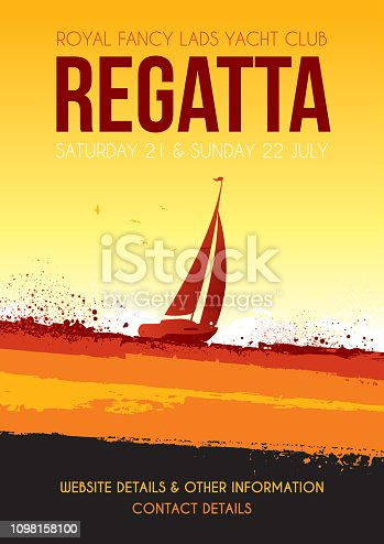 Poster for a sailing regatta